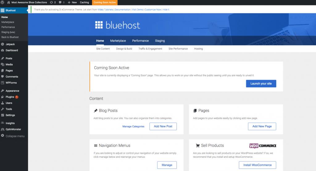 Dashboard de WordPress
