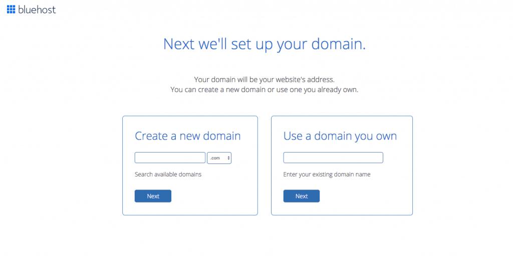 Selecciona tu dominio