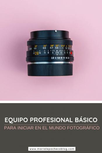 equipo profesional básico para iniciar en el mundo fotográfico